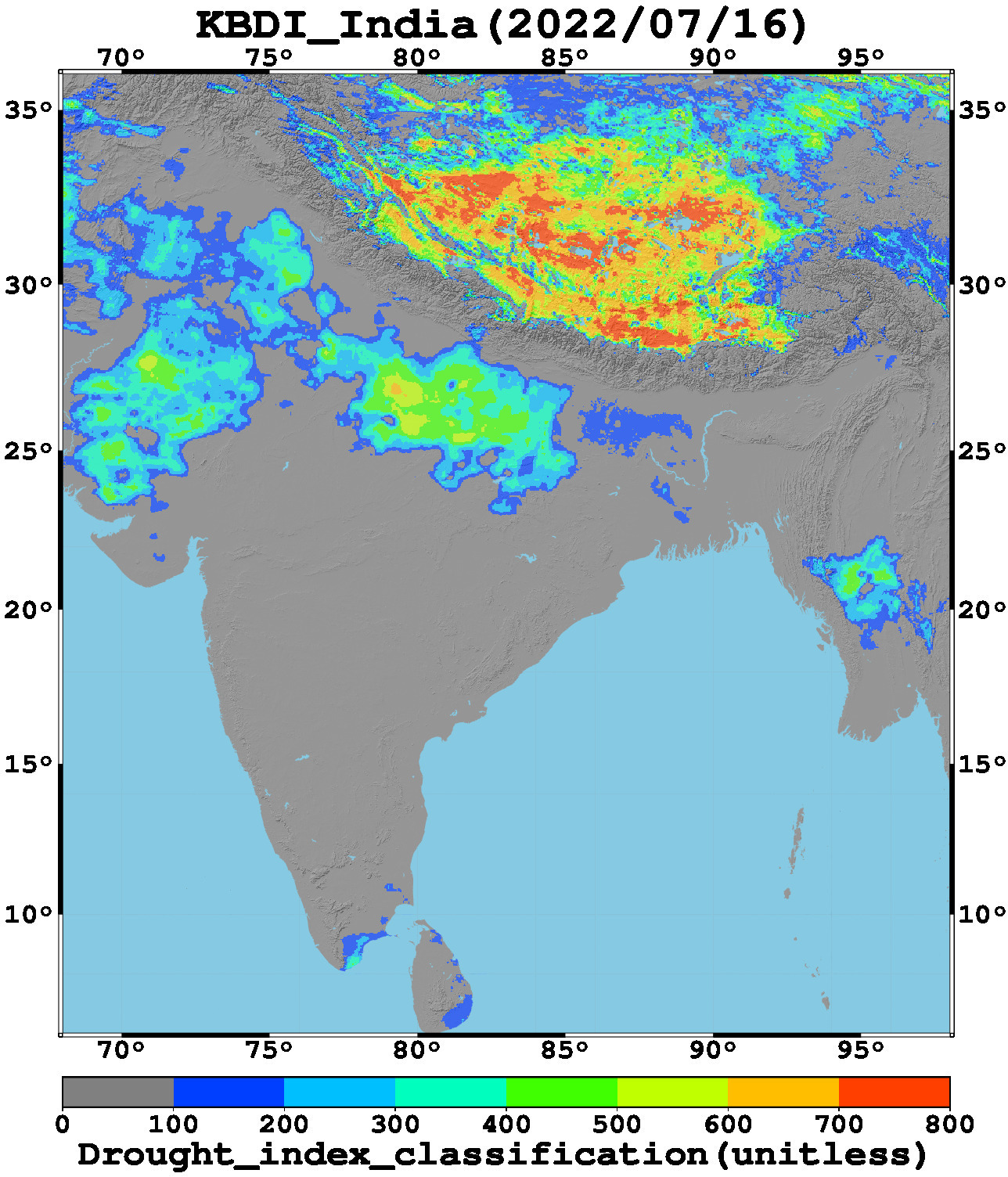Latest India Map.Satellite Based Drought Monitoring And Early Warning System Region